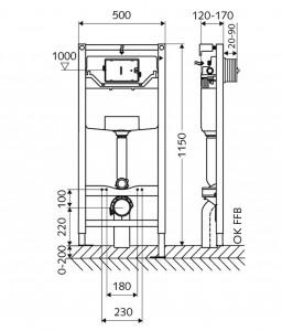 Rezervor WC SCHELL Montus C 120