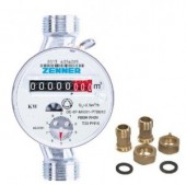 Apometru apa calda Zenner cls.B DN20 - 3/4
